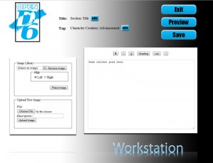 Mockup of the OpenD6 website