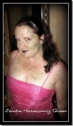 Jess as an undead prom queen at the Zombie Homecoming at Rincon 2008