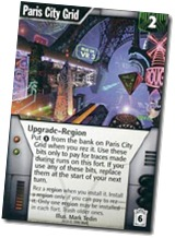 "Paris City Grid card from the game ""Netrunner"""