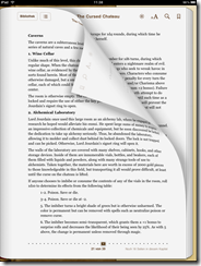 Example of an ePub document in iBooks
