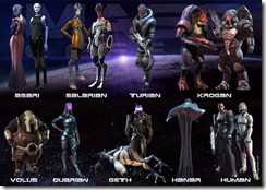 The species from Mass Effect