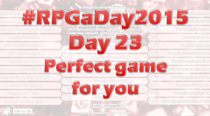 RPG a Day 2015 Challenge – Day 23