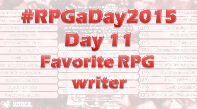 RPG a Day 2015 Challenge – Day 11