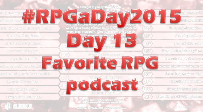 RPG a Day 2015 Challenge – Day 13