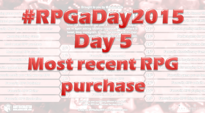 RPG a Day 2015 Challenge – Day 5