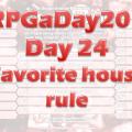 RPGaDay24