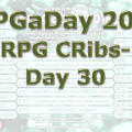 RPG a Day 2016 Day 30