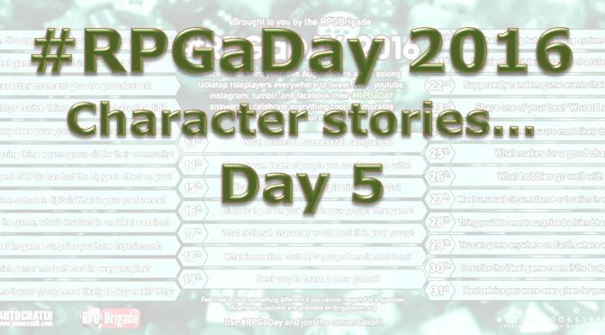 RPG a Day 2016 Days 5