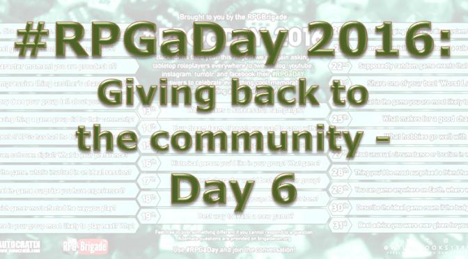 RPG a Day 2016 Days 6